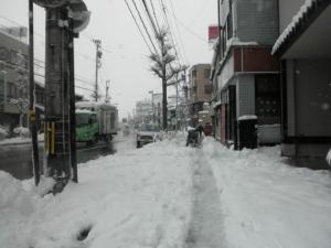 一夜暴雪后